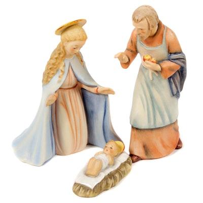 "Goebel ""Holy Family"" Jesus, Mary and Joseph Porcelain Nativity Figurines"