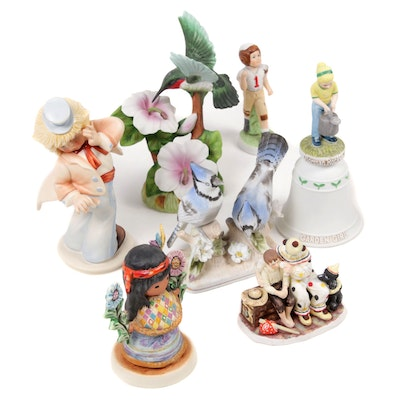 Goebel, Gorham and Other Bisque Porcelain Figurines