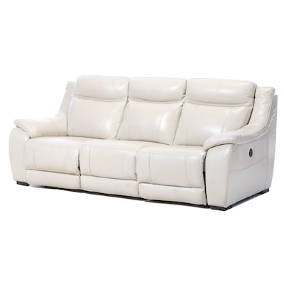 American Signature Leather Electric Reclining Sofa