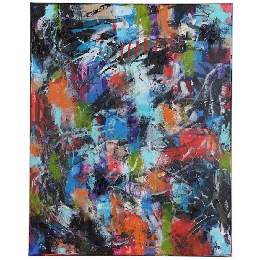 """Sanna Acrylic Painting """"Decisions"""", 2019"""