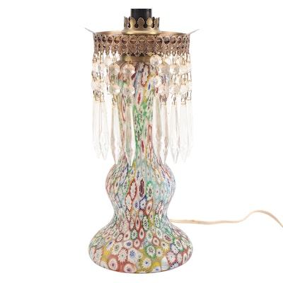 Millefiori Italian Satin Art Glass Table Lamp Table Lamp