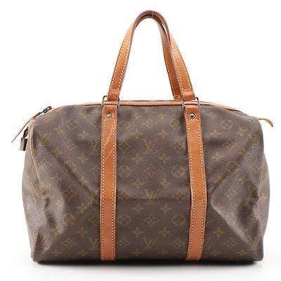 Louis Vuitton Sac Souple 30 in Monogram Vernis and Vachetta Leather