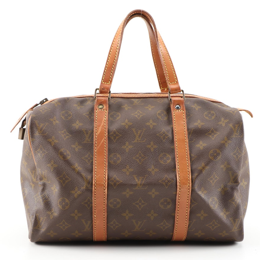 Louis Vuitton Sac Souple 30 in Monogram Vernis and Vachetta Leather