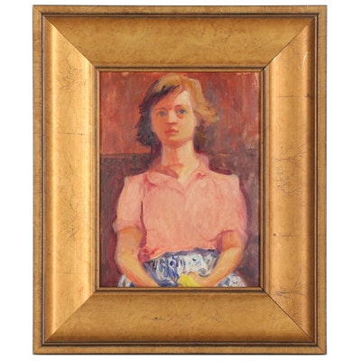 L.S. Muir Portrait Oil Painting, 1946