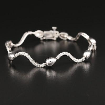 14K White Gold 0.54 CTW Diamond Bracelet