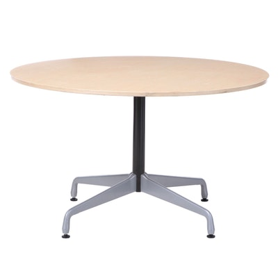 Charles and Ray Eames for Herman Miller Aluminum, Steel, and Ash-Veneered Table