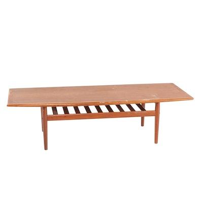 Danish Modern Teak Coffee Table, Late 20th Century