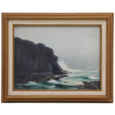 Francis Stillwell Dixon Seaside Oil Painting