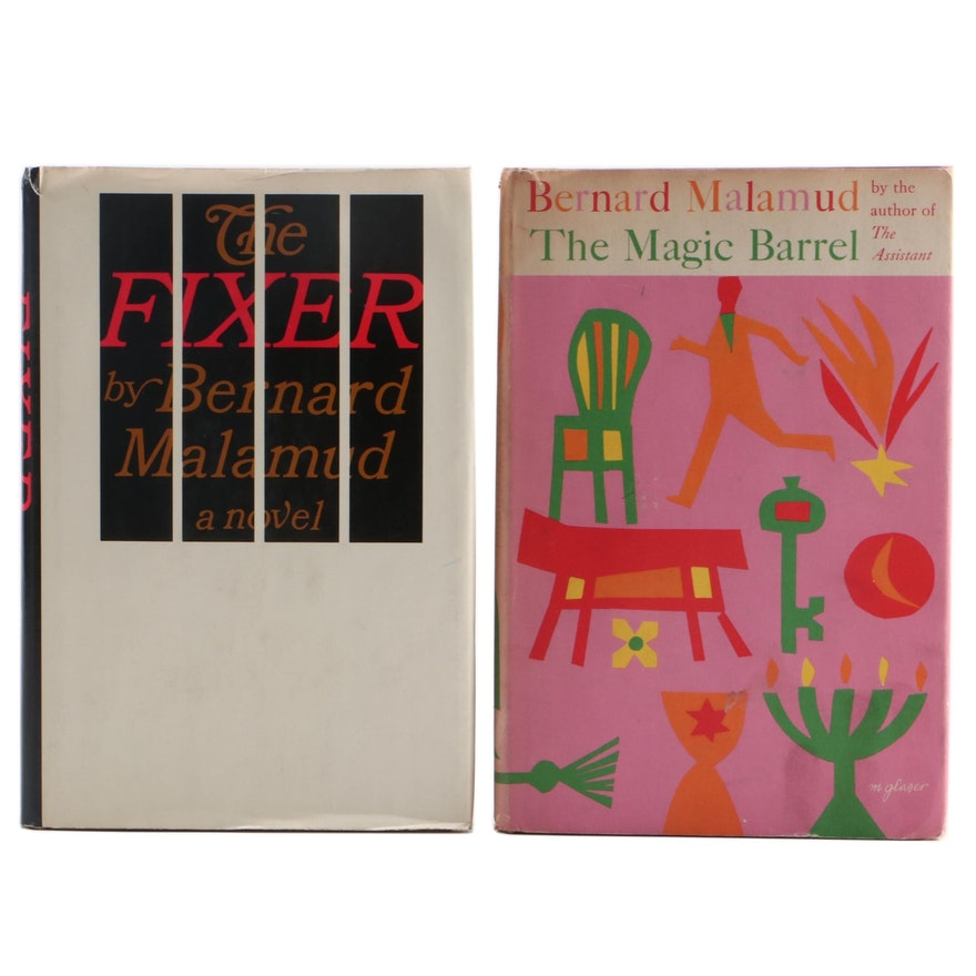 """First Edition """"The Magic Barrel"""" and """"The Fixer"""" by Bernard Malamud"""