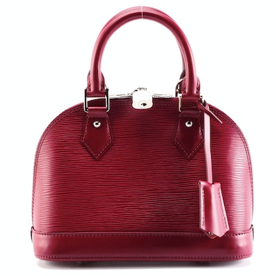 Louis Vuitton Alma PM Satchel in Fuchsia Epi Leather