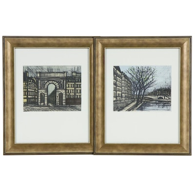 Bernard Buffet Parisian Landmark Color Lithographs, 1967