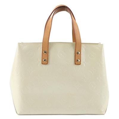 Louis Vuitton Reade PM Mini Tote in Perle Monogram Vernis and Vachetta Leather