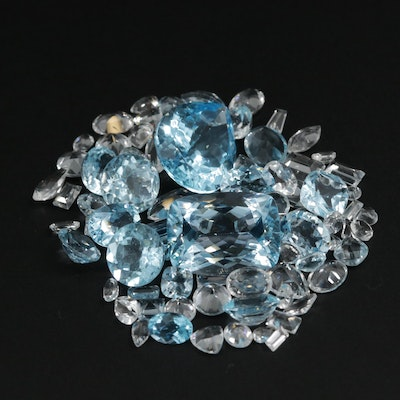 Loose 101.59 CTW Faceted Topaz Selection