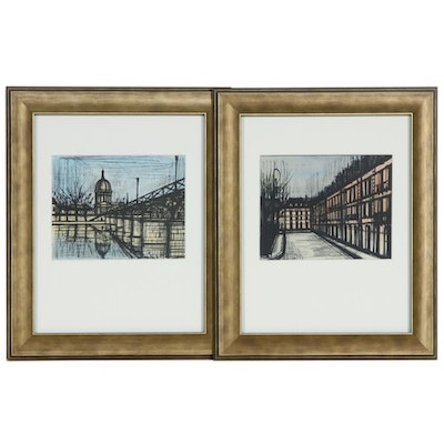 Bernard Buffet Paris Landmark Color Lithographs, 1967