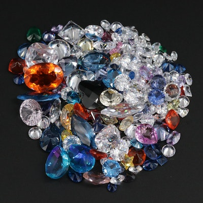 Loose 414.22 CTW Gemstones Including Synthetic Spinel and Quartz