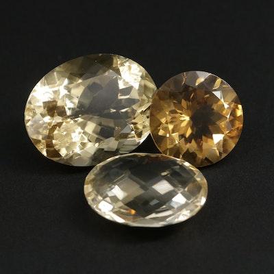 Loose 56.50 CTW Citrine Gemstones