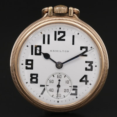 1927 Hamilton Gold Filled Railroad Grade Pocket Watch