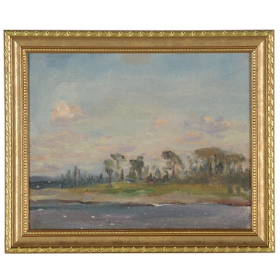 Martha Wilby Schaeffer Abstract Landscape Oil Painting