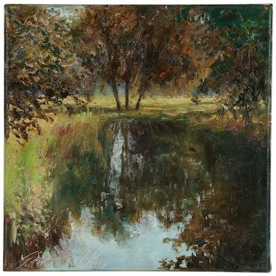 "Garncarek Aleksander Oil Painting ""Staw"""
