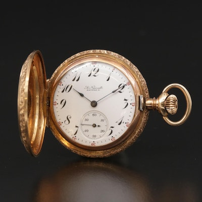 Elgin Private Label For A. Newsalt 14K Gold Hunting Case Pocket Watch, 1905