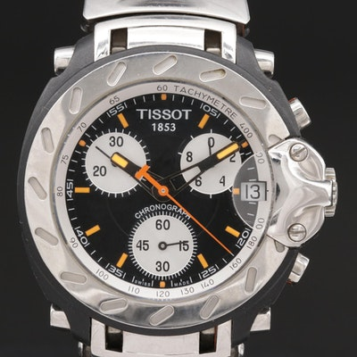 Swiss Tissot T-Race Chronograph With Date Stainless Steel and PVD Wristwatch