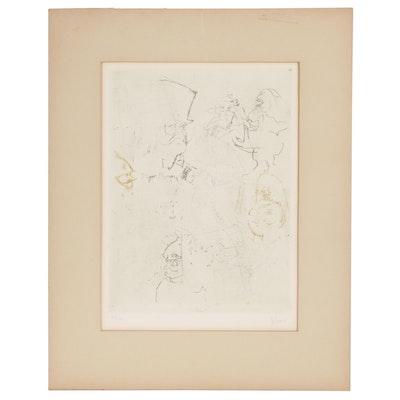 "Jack Levine Etching ""Tiger Brown"", 1967"