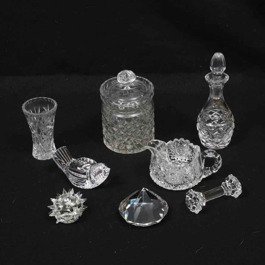 Swarovski, Waterford, and Other Crystal Table Accessories and Figurines