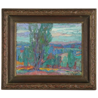 Philip Gronemeyer Abstract Landscape Oil Painting