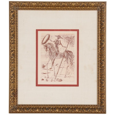 "Etching after Salvador Dalí ""Don Quixote"""