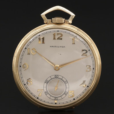 1939 Hamilton Masonic Gold Filled Pocket Watch