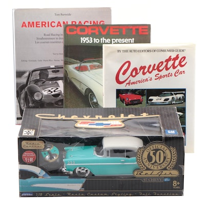 "Moto Concepts 1957 Chevy ""Bel Air"" Radio Control Battery Operated Car with Books"