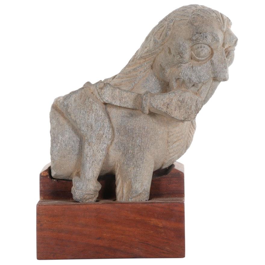 Carved Gray Schist Lion, Gandhara, 2nd-3rd Century