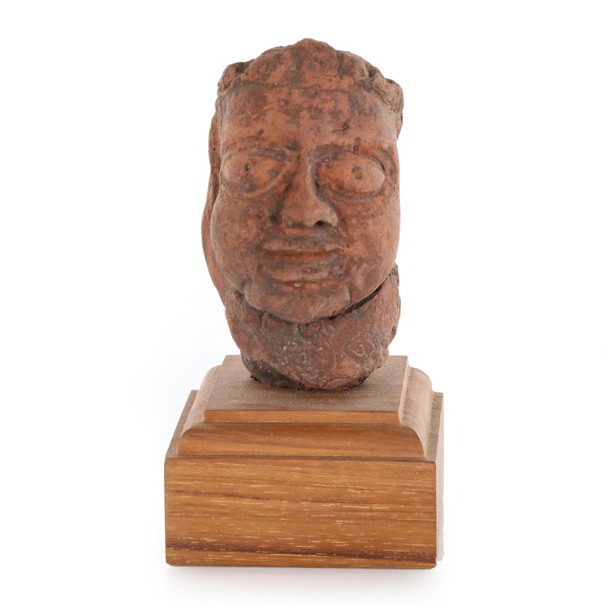 Indian Gupta Terracotta Head, Probably 7th Century