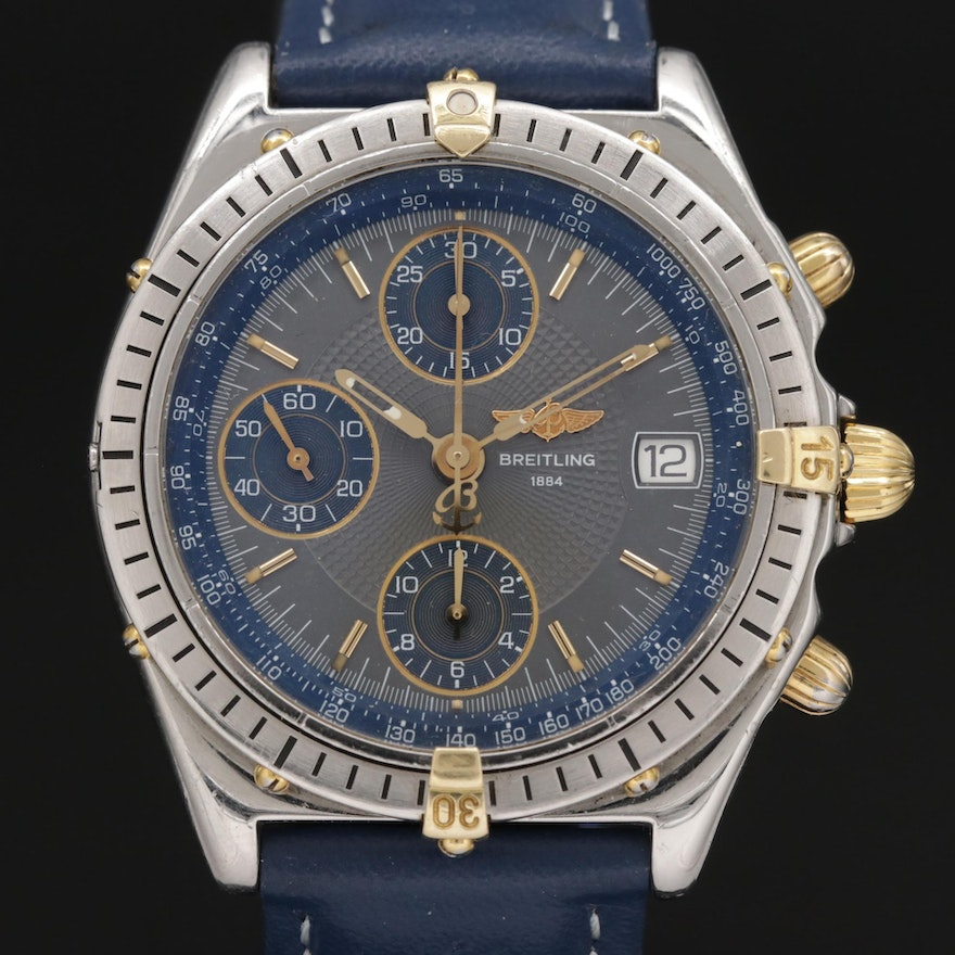 Breitling Chronomat 18K Gold and Stainless Steel 39.00 MM Automatic Wristwatch