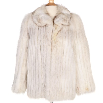 Saga Furs Corded Fox Fur Coat