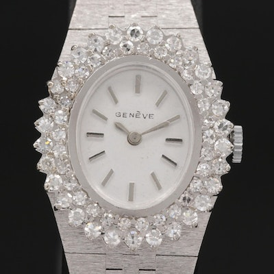14K Gold and 1.55 CTW Diamond Swiss Quartz Wristwatch