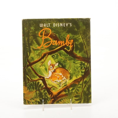 "1941 First Edition Walt Disney's ""Bambi"" with Dust Jacket"