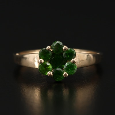 10K Yellow Gold Diopside Ring