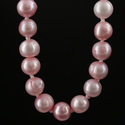 Strand of Pink Pearls with 14K Clasp