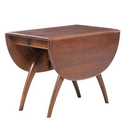 Heywood-Wakefield Wishbone Drop Leaf Table with Leaf Inserts