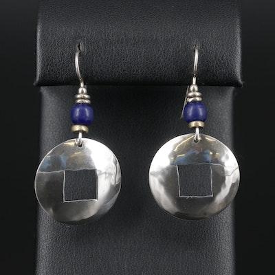 Sterling Silver Glass Dangle Earrings