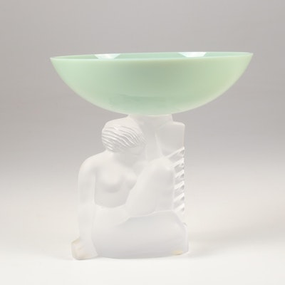 Cristal De Sevres of France Compote with Nude Figural Base