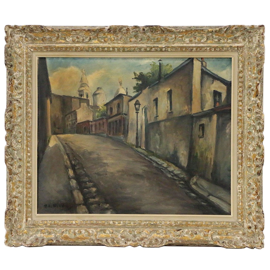 Cityscape Oil Painting of Road