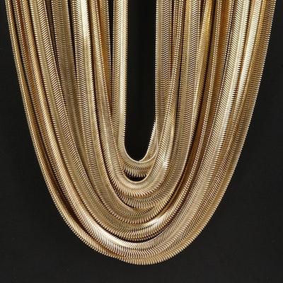 Ben-Amun Multi-Strand Flat Snake Chain Necklace