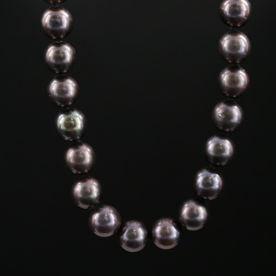 Cultured Pearl Necklace With 14K White Gold Clasp