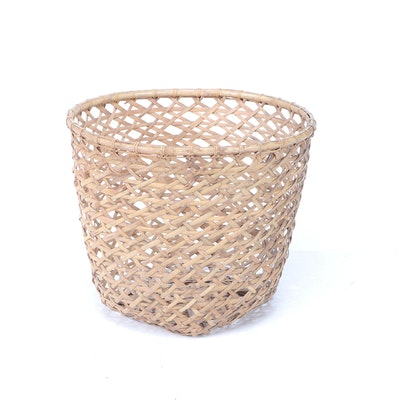 Split Bamboo Open Weave Basket