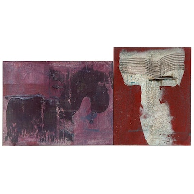 Robert Geno Centofanti Abstract Mixed Media Paintings