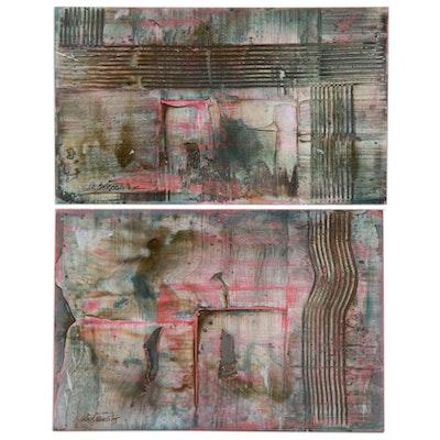 Robert Geno Centofanti Abstract Mixed Media Paintings, 2005