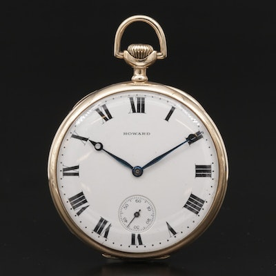 14K Gold Howard Pocket Watch, Antique