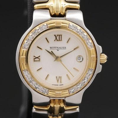 Wittnauer Two Tone Stainless Steel and Diamond Bezel Quartz Wristwatch